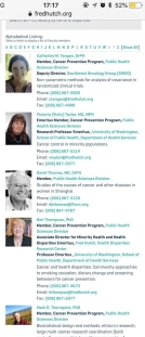 Fred Hutch staff page; no sign of Sabrina M Taylor